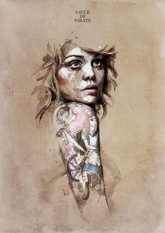Cœur de pirate by Florian Nicolle #tattoo #tattoos #art