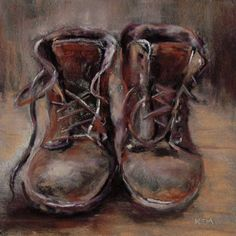painting of worn shoes - Google Search