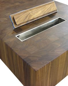 Trash Holes in Countertops allow for quick and easy disposal