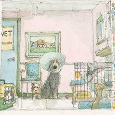 Digital artist Stephen Hanson art prints for sale, buy Stephen Hanson Toby the dog art online full UK delivery at Arthouse Gallery Illustrations, Illustration Art, Photo Images, Pastel, Buy Art Online, Watercolor Drawing, Dog Paintings, Dog Art, Belle Photo