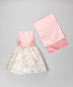 Another great find on #zulily! Pink Floral Babydoll Dress & Shawl - Girls #zulilyfinds