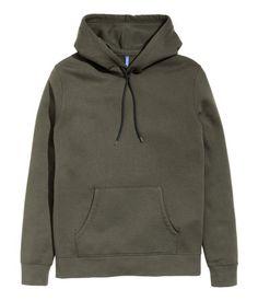 Hooded Sweatshirt | Khaki green | Men | H&M US