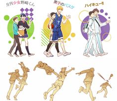 Gekkan Shōjo Nozaki-kun x Kuroko no Basket x Haikyuu!! // The perfection-- xD