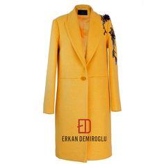 ✨80% Wool Blend Coat, minimal form designeED for a regular silhouette. ED AW/17-18🌟 Erkan Demiroğlu