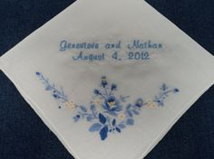 Bridal Wedding Handkerchiefs Personalized for by InspiredStitches, $23.00
