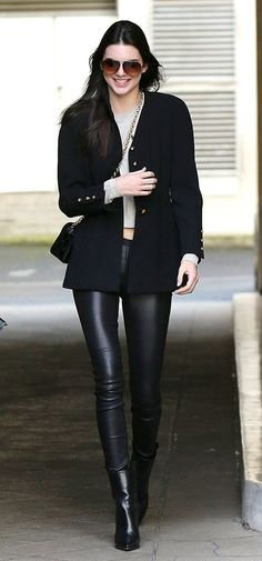 Kendall out in Paris today.