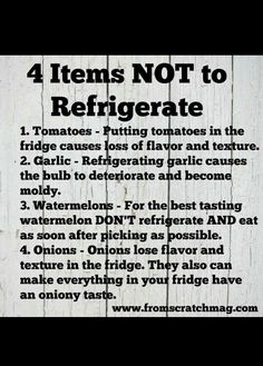 4 items not to refrigerate Food Safety Tips, Food Tips, Food Shelf Life, Food Charts, Kitchen Helper, Cooking Recipes, Cooking Hacks, Useful Life Hacks, Baking Tips