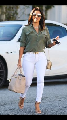 Eva longoria style ladies pants fashion, casual work outfits и fashion outf Casual Work Outfits, Business Casual Outfits, Work Casual, Classy Outfits, Classy Casual, Dress Casual, Pretty Outfits, Latest Outfits, Mode Outfits