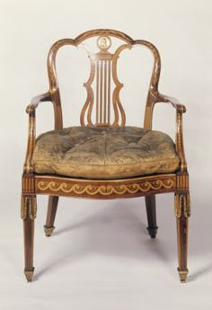 Lyre back library chair by John Linnel at Osterley Park and House, Middlesex