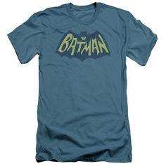 BATMAN/SHOW BAT LOGO - S/S ADULT 30/1 - SLATE -