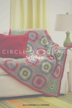 4 different motifs come together to make this crochet afghan. Free pattern.