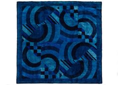 "Rug ""Balders hage/regnbågen"" by Ingrid Dessau, 1972. Made for the Swedish Foreign Office  #kasthall #rugs #interiordesign #blue"
