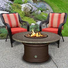 Del Mar Chat Gas Fire Pit Table | WoodlandDirect.com: Outdoor Fireplaces: Fire Pits - Gas, California Outdoor Concepts