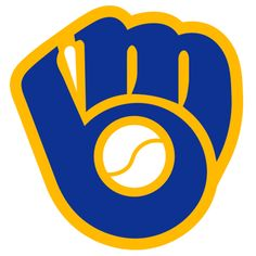 "The Milwaukee Brewers Logo is a retro piece of art made while they were part of the American League. During most of the 70′s they had this ""weird but great"" anthropomorphic Beer Barrel Man batting that was much beloved in Milwaukee since the 1940′s. In the late 1970′s they updated the logo to this glove design. There is a special moment when you first realize it is a lowercase M and B together interlocked in the shape of a glove. The baseball, like the Phillies mark above, is what makes this…"