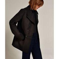 Studio Double Breasted 3/4 Length Coat - Zara