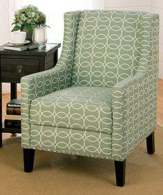 Another great find on #zulily! Mint Green Tessa Accent Chair #zulilyfinds