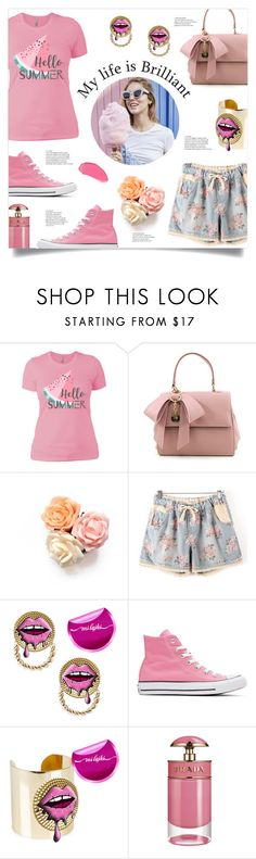 """""""Life is Brilliant"""" by mahafromkailash ❤ liked on Polyvore featuring Converse and Prada"""
