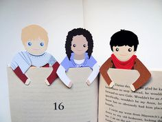 I want one of everything in this shop!! - Bookmark Set Merlin Arthur & Gwen by bethydesigns on Etsy