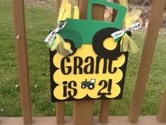 Tractor Birthday Party Door Sign by table4six on Etsy, $16.00