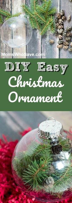 Holiday DIY -- Make This Easy #Christmas Ornament 🎄   #holidays #crafts #decor #diy