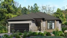 Beaver Homes and Cottages - Bridle Trail Digital Spin Tour Best House Plans, Dream House Plans, Small House Plans, Modern Bungalow Exterior, Modern Bungalow House, Bungalow Floor Plans, House Floor Plans, Beaver Homes And Cottages, Open Concept Great Room