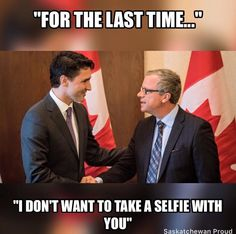 """Premier Dave Wall to selfie-king JustmeTrudope... """"For the last time..."""""""