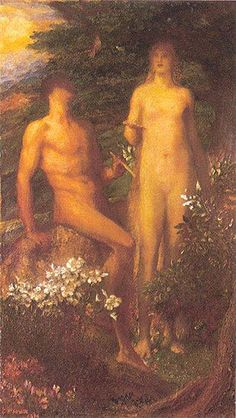 Adam and Eve Before The Temptation, George Frederick Watts