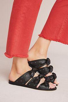 Pour La Victoire Logan Bow Slide Sandals