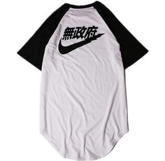 Item Type: T-Shirt Lining Material: Cotton Material: Cotton,Polyester Thickness: Thick ** Please note this is not a Nike product New Style Tops, Baseball Shirts, New Fashion, Adidas Jacket, Shirt Designs, Street Wear, Anarchy, Cotton, Mens Tops
