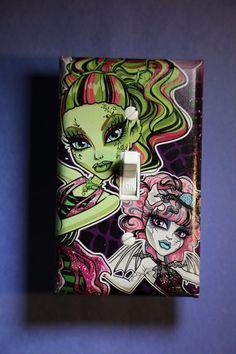 Monster High Draculaura Rochelle Light Switch Cover kids girls room home decor