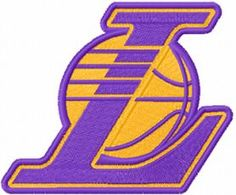 Los Angeles Lakers logo machine embroidery design $5 embroideres.com