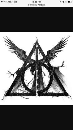 Badass Deathly Hollows tattoo