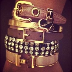 bracelets... love the diamond studded one from HydriaOfficial.