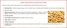 Jungle Party Food Ideas from http://www.passion-for-parties.com/jungle-theme-party.html