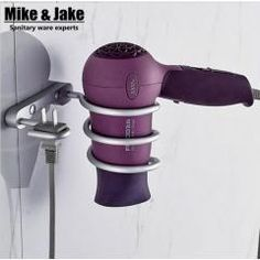 [ 33% OFF ] Bathroom Shelf Dryer Rack With Holder Hair Dryer Rack Households Rack Hair Blow Dryer Holder Aluminum Shelf Bathroom Accessories