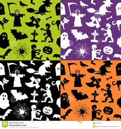 Halloween Seamless Patterns Royalty Free Stock Images