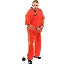 94d1b86a324c AMSCAN Inmate Convict Prisoner Halloween Costume for Men