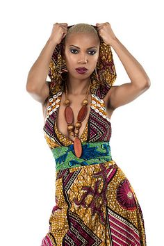 African Dress With Hoodie