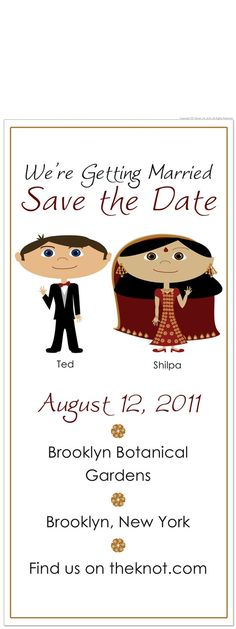Indian Wedding Personalized Save the Day Cards by 76thStreetInk, $86.00
