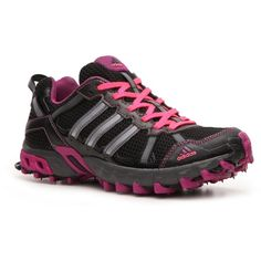 info for f9276 07856 adidas Womens Thrasher Trail Running Shoe - BlackPinkPurpleGrey found  on Polyvore