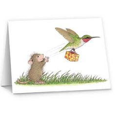 """""""8 Notecards  & 8 Envelopes"""", Stock #: N321B, from House-Mouse Designs®. This item was recently purchased off from our web site. Click on the image to see more information."""