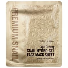 Shop Tony Moly's Age-Defying Snail Hydro-Gel Face Mask Sheet at Sephora. The gel-based sheet mask is infused with snail mucin for youthful-looking skin.