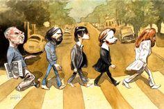 Steve Brodner - Beatles