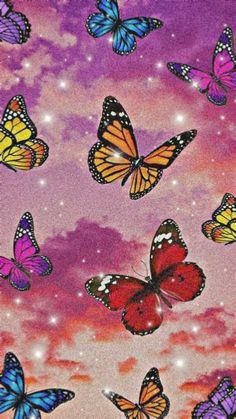 Retro Wallpaper Iphone, Butterfly Wallpaper Iphone, Hippie Wallpaper, Trippy Wallpaper, Iphone Background Wallpaper, Cute Wallpaper Backgrounds, Pretty Wallpapers, Wallpaper Quotes, Iphone Wallpaper Glitter