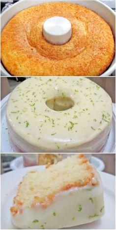 Lemon Blender Cake - All Time Recipe - Fast Recipes Easy Smoothie Recipes, Easy Smoothies, Good Healthy Recipes, Sweet Recipes, Cake Recipes, Snack Recipes, Dessert Recipes, Coconut Recipes, Snacks