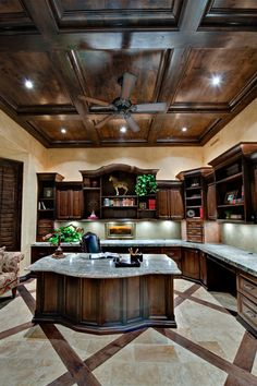 Stunning Office!  Check out the floors and Ceiling. Wow