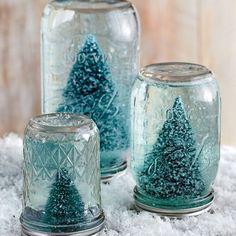 Make a Mason Jar Snow Globe - 101 fresh christmas decorating ideas - Southern Living