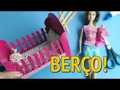 Como fazer uma Cama para Barbie e outras Bonecas com Caixa de Sapato! - YouTube