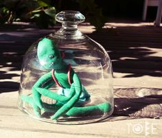 Toby the alien form TOBE Snow Globes, Toys, Home Decor, Homemade Home Decor, Toy, Interior Design, Games, Home Interiors, Decoration Home