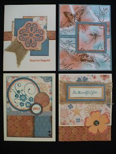 4 cards by different talented ladies